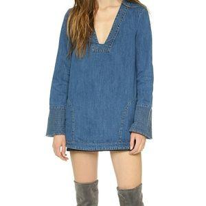 Zara Dreaming Of Denim Hendrix Tunic Dress